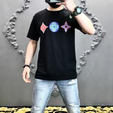 ブランド販売ルイヴィトン LOUIS VUITTON メンズ/レディース クルーネック Tシャツ 綿 定番人気ブランドコピー代引き