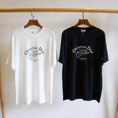ディオール Dior メンズ/レディース カップル クルーネック 2色 Tシャツ 綿 新入荷 NIKEブランドコピー代引き