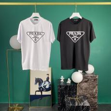 プラダ PRADA メンズ/レディース 2色 クルーネック Tシャツ 綿 定番人気スーパーコピー激安安全後払い販売専門店