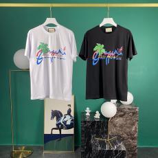 グッチ GUCCI メンズ/レディース 2色 クルーネック Tシャツ 綿 カップル 良品コピー最高品質激安販売