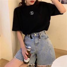 ブランド安全ルイヴィトン LOUIS VUITTON メンズ/レディース カップル クルーネック 2色 綿 Tシャツ 新品同様コピーブランド激安販売専門店