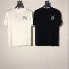 ルイヴィトン LOUIS VUITTON メンズ/レディース 2色 クルーネック Tシャツ 綿 カップル 人気レプリカ販売