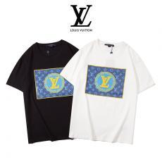 ルイヴィトン LOUIS VUITTON メンズ/レディース カップル クルーネック 2色 綿 Tシャツ 高評価激安代引き口コミ