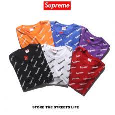 シュプリーム Supreme メンズ/レディース 6色 カップル クルーネック Tシャツ 綿 人気スーパーコピー専門店