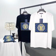 ルイヴィトン LOUIS VUITTON メンズ/レディース クルーネック Tシャツ 綿 2色 デニム  新入荷スーパーコピー通販
