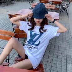 ブランド可能ルイヴィトン LOUIS VUITTON メンズ/レディース  2色 Tシャツ 綿 クルーネック 新作スーパーコピー激安販売