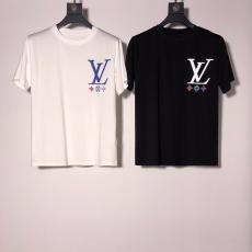 ルイヴィトン LOUIS VUITTON メンズ/レディース カップル クルーネック 2色 Tシャツ 綿 新入荷スーパーコピー専門店