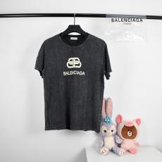 バレンシアガ BALENCIAGA メンズ/レディース カップル クルーネック Tシャツ 新品同様スーパーコピー国内発送専門店