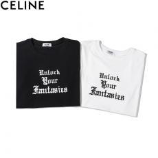 セリーヌ CELINE メンズ/レディース カップル 2色 クルーネック 綿 Tシャツ  人気スーパーコピー激安国内発送販売専門店