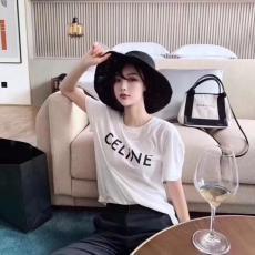 ブランド通販セリーヌ CELINE メンズ/レディース クルーネック 2色 Tシャツ 綿 高評価スーパーコピー激安安全後払い販売専門店
