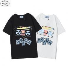 プラダ PRADA メンズ/レディース カップル 2色 クルーネック Tシャツ 綿 新品同様ブランドコピー安全後払い専門店