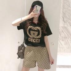 グッチ GUCCI メンズ/レディース クルーネック Tシャツ 綿 2色 高評価格安コピー口コミ