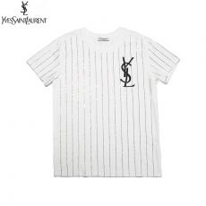 イヴ・サンローラン YSL メンズ/レディース クルーネック 2色 綿 Tシャツ 送料無料コピー口コミ