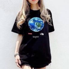 シュプリーム Supreme メンズ/レディース カップル クルーネック 綿 Tシャツ 2色 高評価スーパーコピー代引き可能
