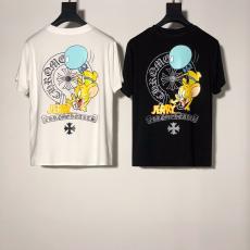 クロムハーツ Chrome Hearts メンズ/レディース クルーネック 2色 綿 Tシャツ 高評価スーパーコピー激安販売