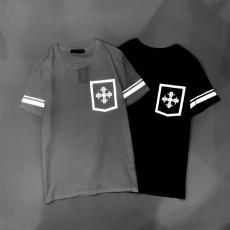 クロムハーツ Chrome Hearts メンズ/レディース 2色 クルーネック Tシャツ 綿 おすすめレプリカ販売