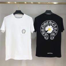 クロムハーツ Chrome Hearts メンズ/レディース カップル クルーネック 2色 綿 Tシャツ 定番人気ブランド通販
