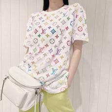 ブランド国内ルイヴィトン LOUIS VUITTON メンズ/レディース クルーネック Tシャツ 綿 2020年春夏新作スーパーコピー通販