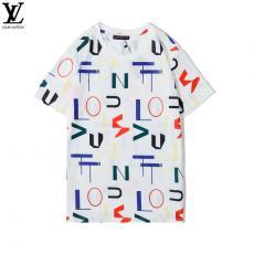 ブランド国内ルイヴィトン LOUIS VUITTON メンズ/レディース カップル 2色 クルーネック 綿 Tシャツ 高評価コピーブランド代引き