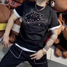 ルイヴィトン LOUIS VUITTON メンズ/レディース カップル 2色 クルーネック Tシャツ 綿 NIKE 新作ブランドコピー専門店