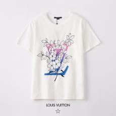 ルイヴィトン LOUIS VUITTON メンズ/レディース カップル クルーネック 2色 綿 Tシャツ 新入荷激安 代引き口コミ