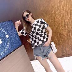 ブランド販売ルイヴィトン LOUIS VUITTON メンズ/レディース クルーネック 2色 Tシャツ 綿 定番人気コピーブランド代引き