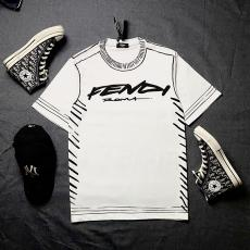 フェンディ FENDI メンズ/レディース カップル クルーネック Tシャツ 綿 2020年新作スーパーコピーブランド代引き