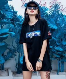 シュプリーム Supreme メンズ/レディース カップル 2色 クルーネック Tシャツ 綿 良品ブランドコピー激安販売専門店