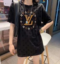 ルイヴィトン LOUIS VUITTON メンズ/レディース 2色 クルーネック Tシャツ 綿 カップル 2020年新作口コミ激安代引き