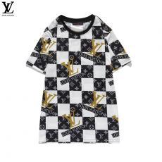 ルイヴィトン LOUIS VUITTON メンズ/レディース クルーネック Tシャツ 綿 送料無料レプリカ激安代引き対応