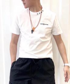 ブランド安全ルイヴィトン LOUIS VUITTON メンズ/レディース 2色 クルーネック Tシャツ 綿 カップル 2020年新作激安 代引き口コミ