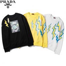 プラダ PRADA メンズ/レディース 3色 クルーネック スウェット カップル 送料無料激安販売専門店