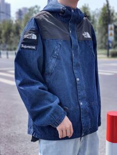 シュプリーム Supreme メンズ/レディース カップル デニム アウターブルゾン The North Face 高評価ブランドコピー激安安全後払い販売専門店