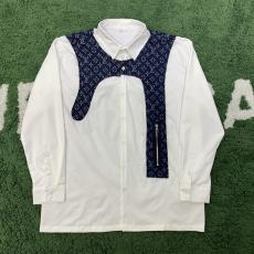 ブランド販売ルイヴィトン LOUIS VUITTON メンズ/レディース 2色 長袖 シャツ カラーブロック 送料無料スーパーコピー代引き可能