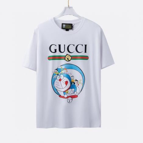 グッチ クルーネック Tシャツ  新作限定! GUCCI メンズ/レディース 確保済み 綿 カジュアルブランドコピー 代引き届く