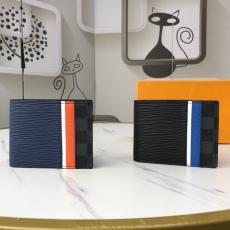 メンズ 短財布 世界中で大人気 即発注目度NO.1 ルイヴィトン LOUIS VUITTON 2色 ウォレットは、クラシックなダミエグラファイトキャンバスとエピレザーを巧みに縫い合わせ、最後の仕上げとして明るいストライプを使用しています M69538 新入荷レプリカ激安財布代引き対応