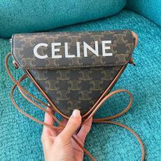 2021年春夏新作 セリーヌ 男女兼用 カップル CELINE 最新作人気 斜めがけ ショルダーバッグ トライアングルバッグ激安代引き口コミ
