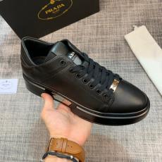 PRADA 限定希少 英国スタイルのレトロな靴 新品同様  黒色 プラダブランドコピー工場直売販売口コミ国内発送店