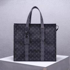 上品 すぐ届く! ルイヴィトン メンズ トートバッグ 大容量 LOUIS VUITTON ビジネスバッグ ショッピング袋 トラベル 黒い花 M45379コピー 工場直営販売口コミ