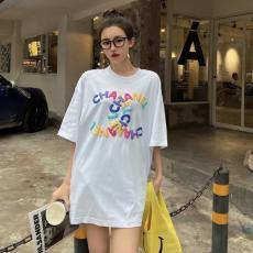 最新作人気 CHANEL メンズ/レディース クルーネック Tシャツ シャネル カップル 綿 2色 争奪戦☆レア本当に届くブランドコピー工場直営安全後払い店