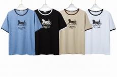 クルーネック Tシャツ セリーヌ 人気殺到 CELINE メンズ/レディース 新入荷 4色 カップルスーパーコピー代引き