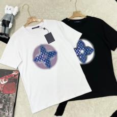 LOUIS VUITTON メンズ/レディース 2色 クルーネック Tシャツ カジュアル ルイヴィトン カップル 先取り! 即完売必至追跡付激安販売工場直営専門店