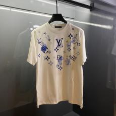 ルイヴィトン 男女兼用 カジュアル Tシャツ LOUIS VUITTON 人気新作 追跡付 クルーネックブランド工場直営通販