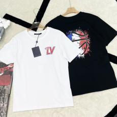 綿 2色 クルーネック Tシャツ ルイヴィトン 男女兼用 カジュアル LOUIS VUITTON 新入荷 NBA カップル すぐ届く! 新生活に本当に届くブランドコピー 口コミ国内安全後払い店