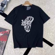 ルイヴィトン カップル 2色 新作!アイテムを先取り LOUIS VUITTON 男女兼用 クルーネック Tシャツ カジュアル セレブ愛用スーパーコピー 後払い line