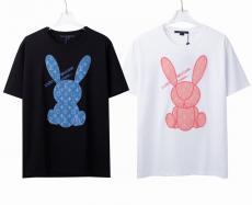 カップル Tシャツ LOUIS VUITTON 2色 2021年新作 お洒落に  ルイヴィトン メンズ/レディース カジュアル クルーネック 柔らかい  上品スーパーコピー代引き安全後払い優良工場直売サイト