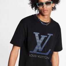 男女兼用 カップル LOUIS VUITTON Tシャツ 2色 クルーネック ルイヴィトン 新品同様  ビジネス ファッション カジュアル 上品  最新作人気ブランドコピー 国内優良サイトline