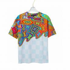 男女兼用 2021最新/限定 LOUIS VUITTON カップル Tシャツ クルーネック ルイヴィトン 高品質スーパーコピー販売口コミ代引き後払い国内発送優良店line
