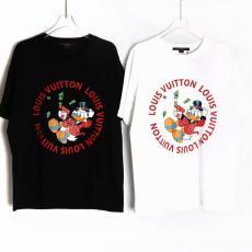 ルイヴィトン 美品 LOUIS VUITTON 男女兼用 2色 Tシャツ クルーネック すぐのお届け偽物代引き対応