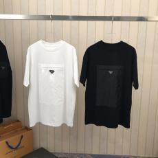 世界中で大人気 プラダ PRADA 2色 クルーネック Tシャツ メンズ/レディース 手元在庫ありコピー口コミ